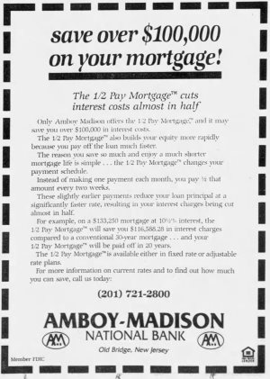 1/2 Pay Mortgage ad